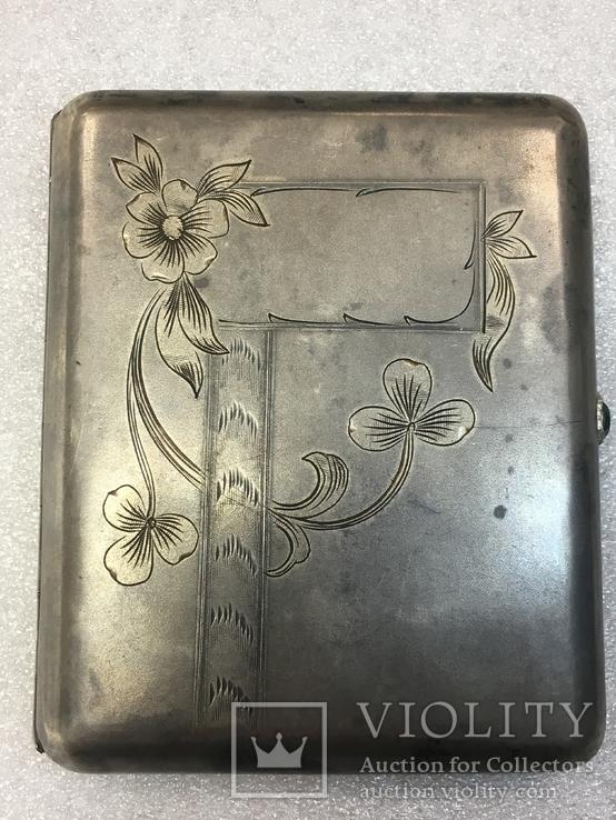 Серебряный портсигар с золочением 875