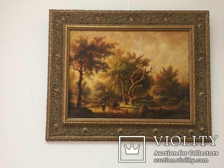 Картина ''Английский пейзаж'', Европа. Холст, масло. 55*41. Копия., фото №2