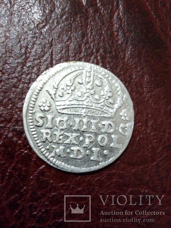 Коронний грош 1608 рік
