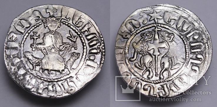 Кілікійська Арменія, срібний трам царя Левона І (1198-1219 н.е.). Шестикутна зірка.