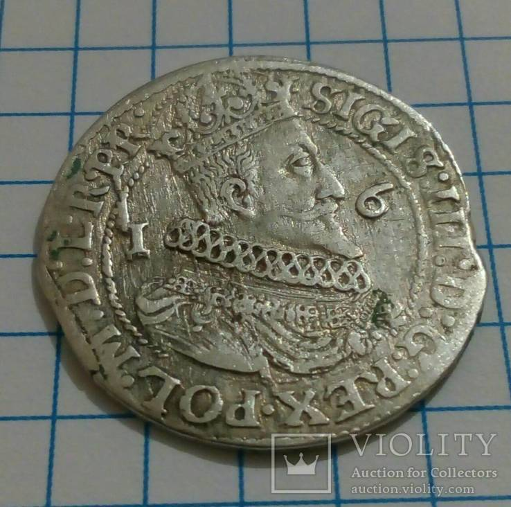 Орт 1624 года, серебро