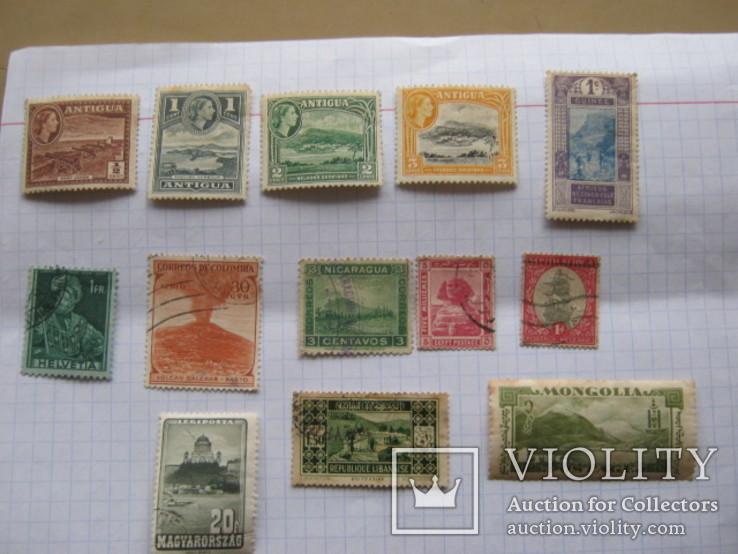 Марки Антигуа, Венгрии, Гвинеи , Колумбии и пр. 13 шт., фото №2