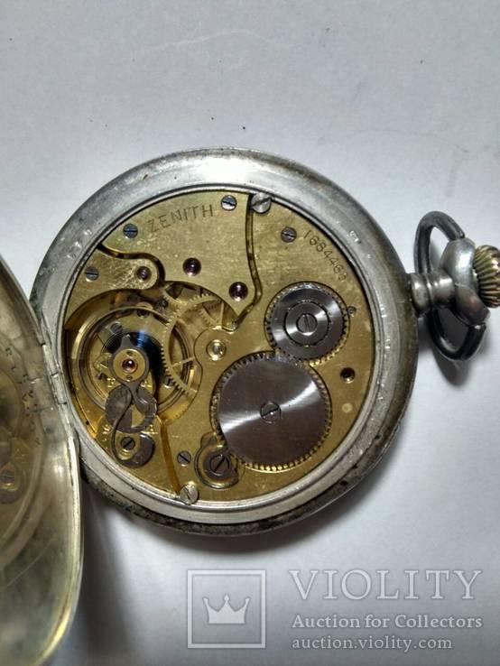 Карманные серебрянные часы Zenith