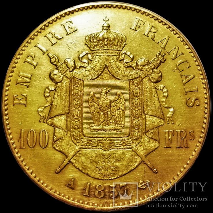 100 франків 1857 року, Друга Французька Імперія, Наполеон ІІІ, золото