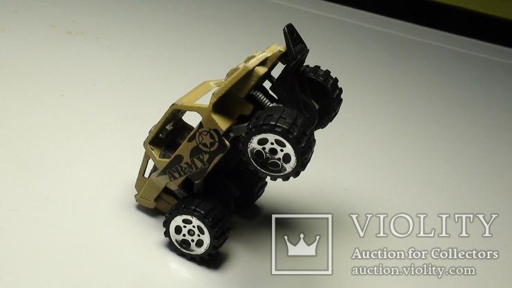 Машинка багги американской армии. Крепкий металл., фото №7