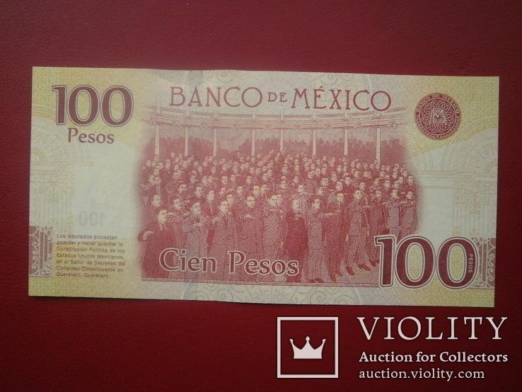 Мексика 2017 рік 100 песос UNC (ювілейна)., фото №3