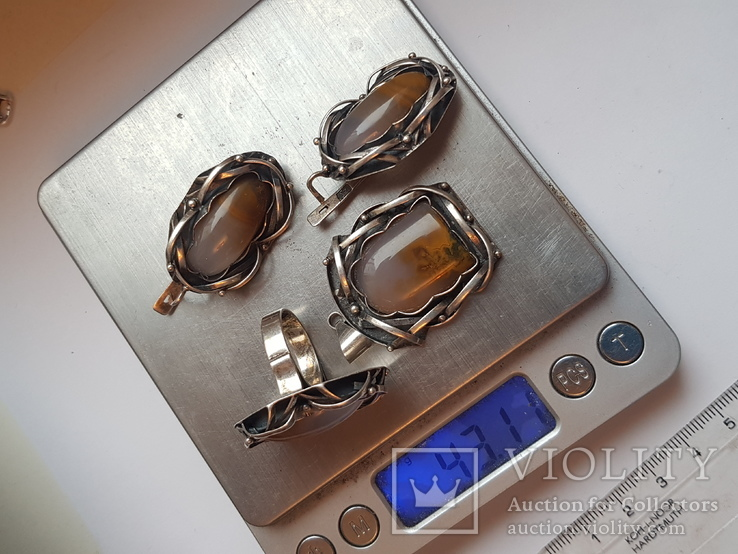 Японский набор. Кольцо 18 размер. Вес 43.11 г.
