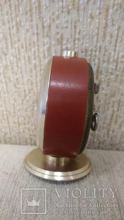 Часы будильник Слава 11 камней коричневые, фото №6