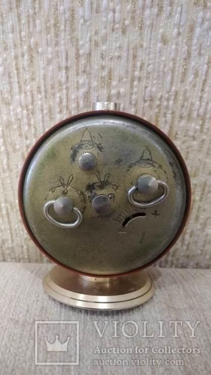 Часы будильник Слава 11 камней коричневые, фото №7