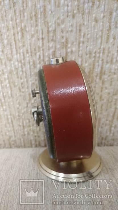 Часы будильник Слава 11 камней коричневые, фото №8