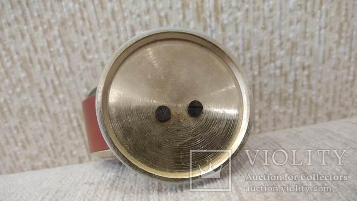 Часы будильник Слава 11 камней коричневые, фото №10