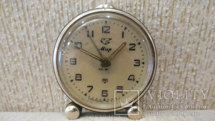 Часы будильник Мир 1957 год, фото №2