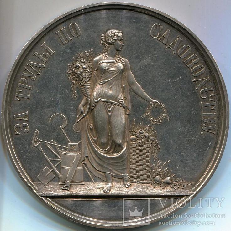 Медаль от Российского общества садоводства в Санкт-Петербург