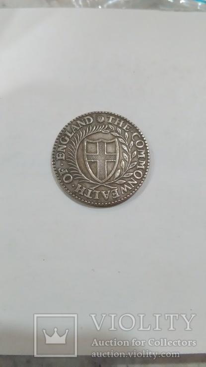Английский Шиллинг 1651 года копия монеты Британии, фото №3