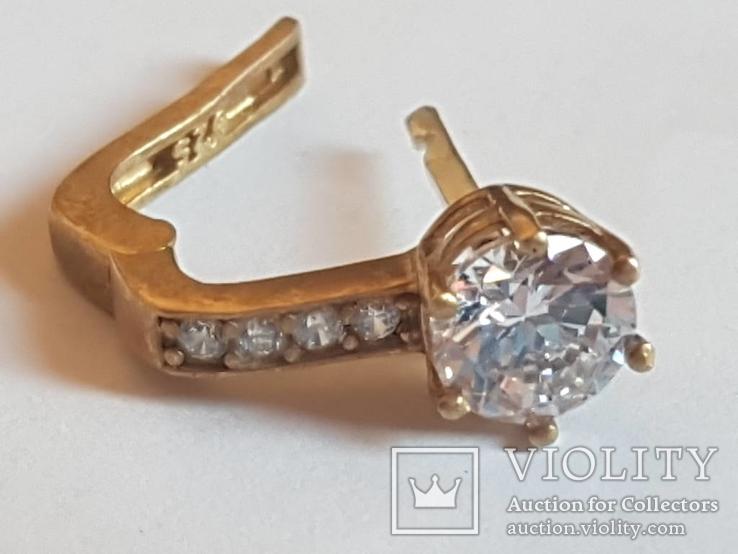 Набор серьги, кольцо, кулон, цепочка. Серебро 925 проба. Позолота., фото №9