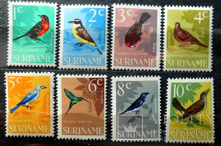 1964 г. Суринам Фауна Птицы (**) 8 марок