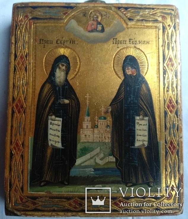 Миниатюра Преподобные Сергий и Герман