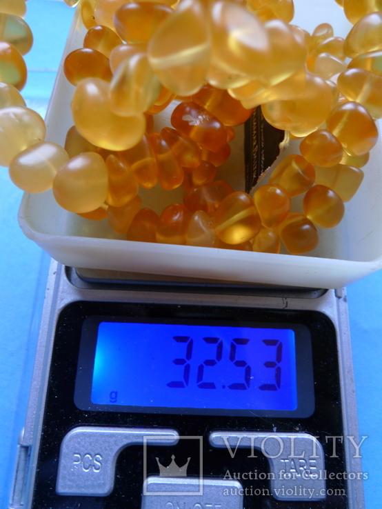 Бусы янтарные (32,5 грамма), фото №6