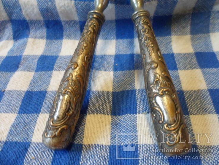 Щипци для завивки волос с серебренними ручками, фото №8