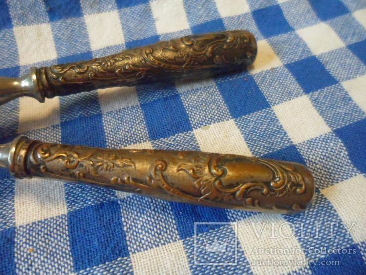 Щипци для завивки волос с серебренними ручками, фото №11
