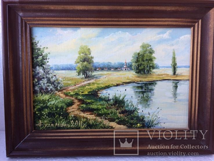 Картина маслом (сельская дорога), подпись, 2011