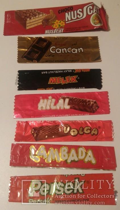 Обвертка из под шоколада 7 штук, фото №2