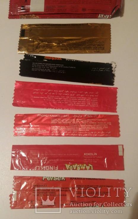 Обвертка из под шоколада 7 штук, фото №6