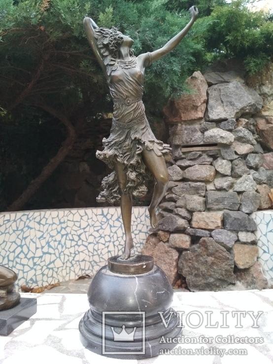Танцовщица бронза гранит клеймо подпись, фото №2