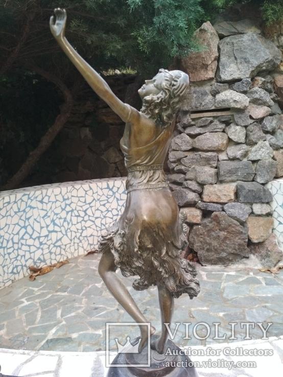 Танцовщица бронза гранит клеймо подпись, фото №5
