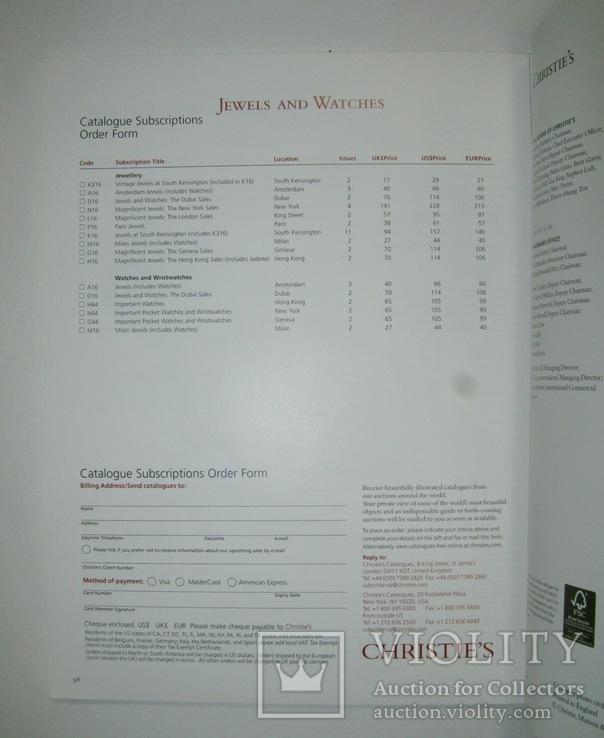 Аукционный каталог Christies 28/04/2009. Ювелирные украшения, часы, фото №4