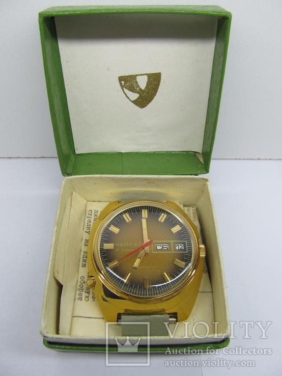 Часы мужские - Чайка, AU-10+, новые, в коробке, с инструкцией
