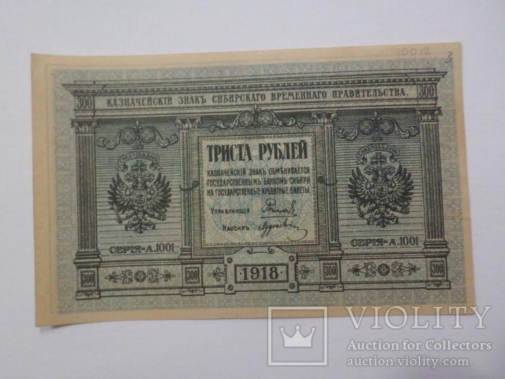 300 руб. Сибирь серия А.1001 1918 г. UNC aUNC