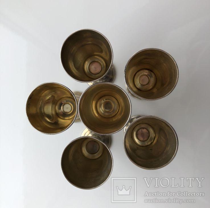 Рюмки серебро чернь 875 пр., фото №4