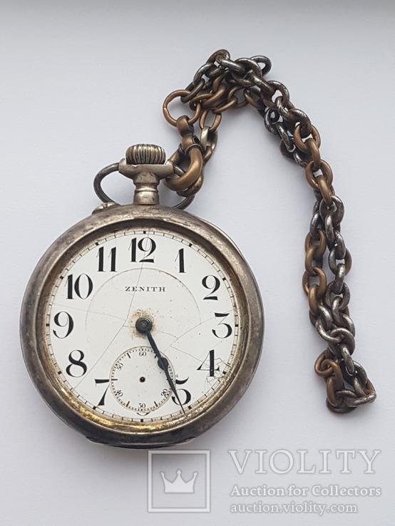Zenith карманные часы в серебряном корпусе