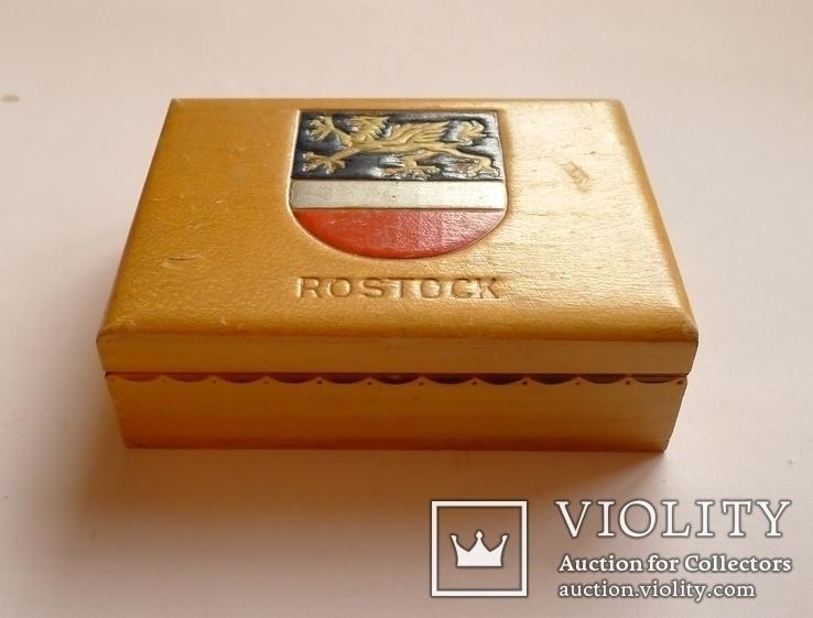 Немецкая деревянная коробочка для сигарет Rostok, фото №3