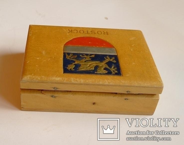 Немецкая деревянная коробочка для сигарет Rostok, фото №7