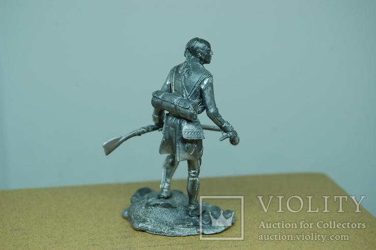 Индеец с ружьем. 67мм, фото №5