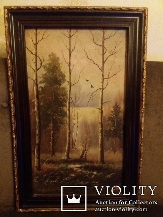 Старый пейзаж белоруского художника и.ольшевский