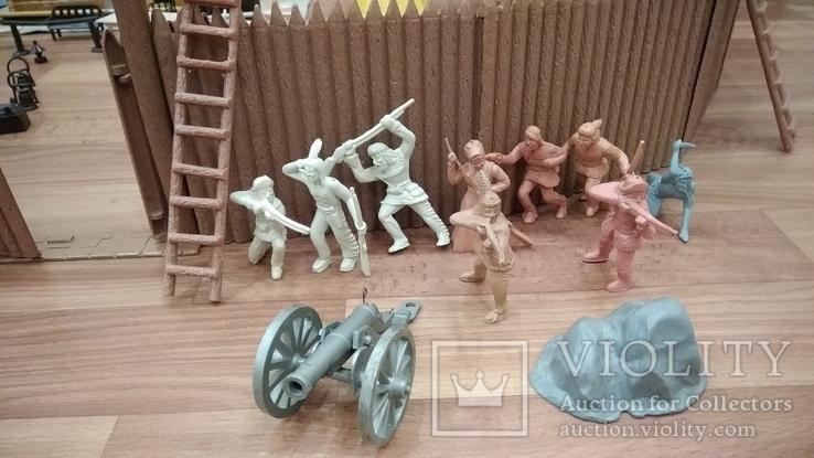 Игровой сет Форт Апачей 20 фигур + декорации 1950-1952гг. пр-ва оригинал США, фото №5