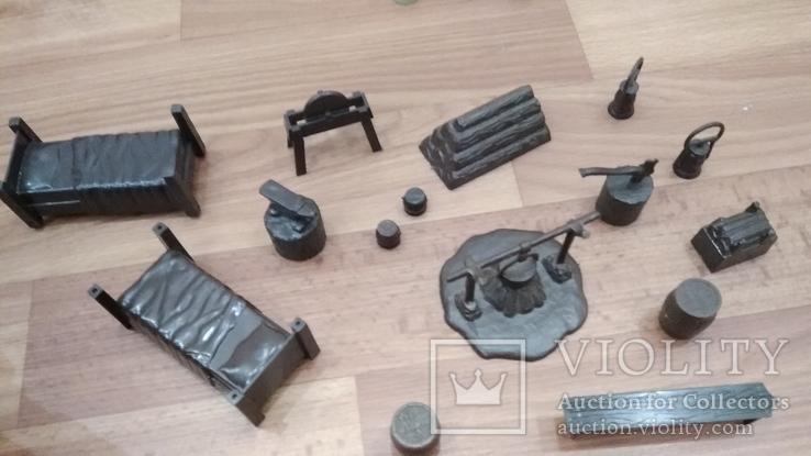 Игровой сет Форт Апачей 20 фигур + декорации 1950-1952гг. пр-ва оригинал США, фото №10