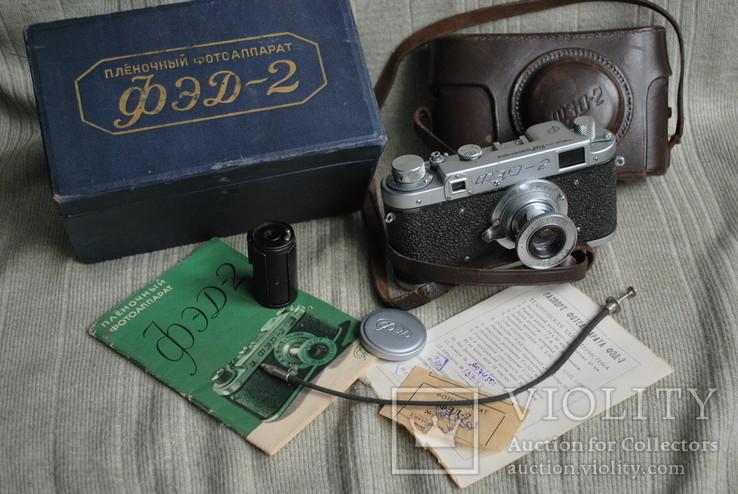 ФЭД-2 квадратное окно дальномера, № 000847, комплект.