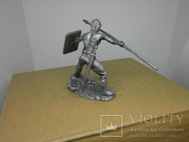 Воин со щитом и пикой. 60мм, фото №6