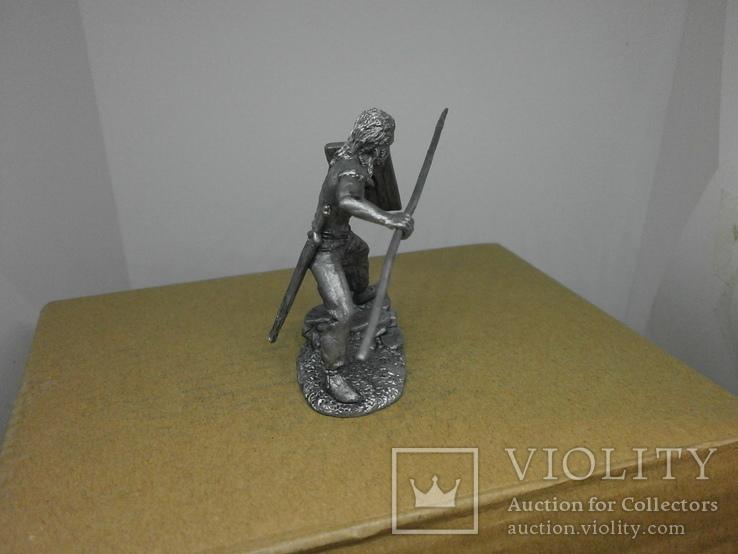 Воин со щитом и пикой. 60мм, фото №7
