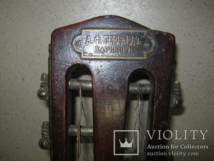 Цыганская гитара 1900 г. А. Ф. Гергардъ Харьков с перламутром, фото №5