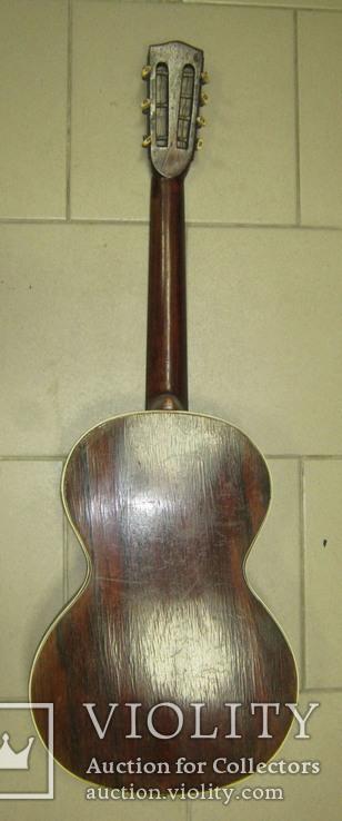 Цыганская гитара 1900 г. А. Ф. Гергардъ Харьков с перламутром, фото №8