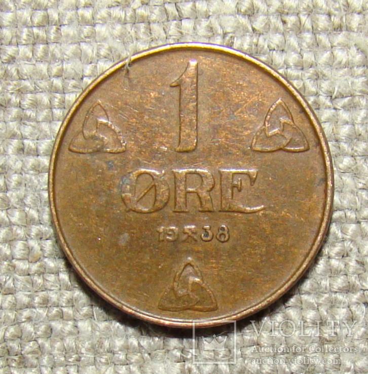 1 эре 1938 год Норвегия, фото №2