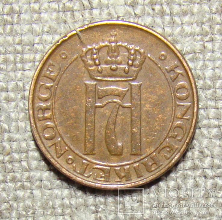 1 эре 1938 год Норвегия, фото №3