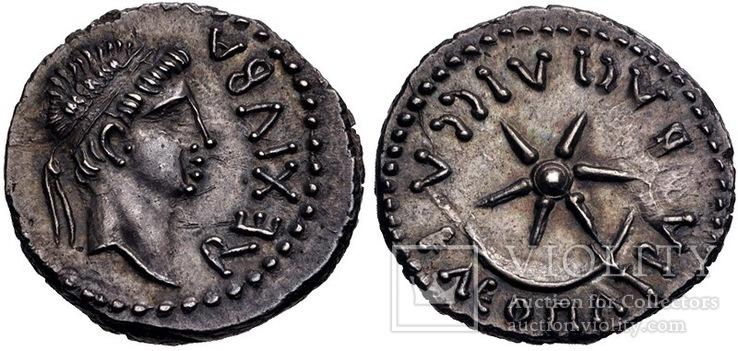 Динарий Юба 2 и Клеопатра Селена