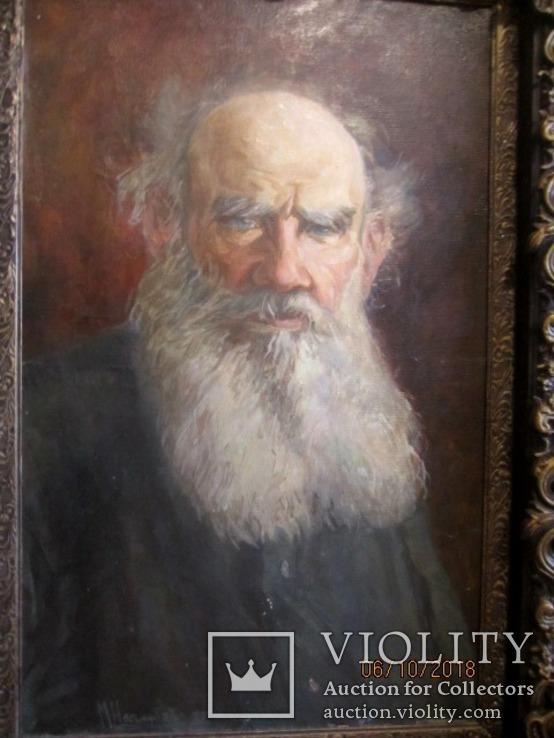 """""""Tолстой""""   портрет холст масло Подпись художника., фото №9"""