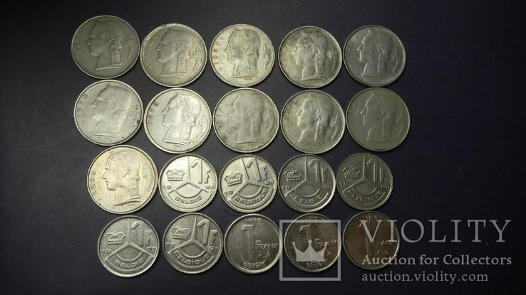 1 франк Бельгія (порічниця) 20шт, всі різні, фото №2